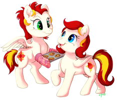 Commission: Lotus Heat and Petal Spark by C-Puff