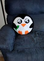 Penguin Pillow Plush by rainbowdreamfactory