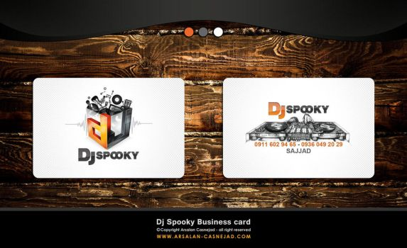 Dj spooky business card by arsalan-design