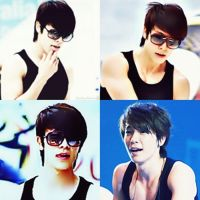 Donghae in Black Wifebeater by EunhaeIsLoved