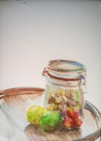 Study - Still Life of a healthy Snack by CentificGrafics