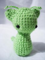 Alien Kitty Crochet Plushie by VampireMistressKayla