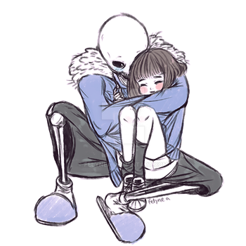 sans and frisk by Felynea