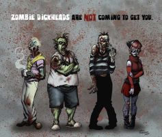 Zombie Dickheads - color by ChrisMoreno