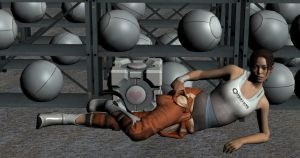 Chell  Portal 2 by enterprisedavid