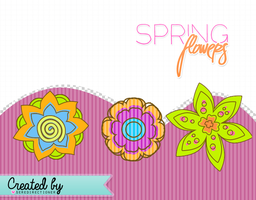Spring flowers -sere by seredirectioner
