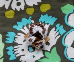 Miniature Polymer Clay Cake by greencrazy1999