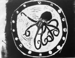 Octopus Stamp #1 by Slendermansbrother