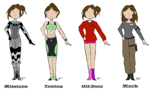 Fran Outfits by creeperstarfish