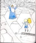 Finn and Jake V/S The Ice King by gotibas