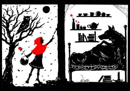 Little Red Riding Hood and the Wolf... by steeringfornorthart