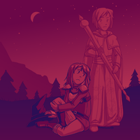 Palette Meme Witch and Hero by RobanCrow