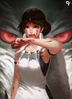Princess Mononoke by liangxinxin