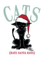 Cats Hate Santa Hats by hoganvibe