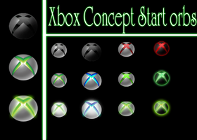 Xbox Concept Start Orbs by jeffrockr