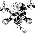 Skull and Cross Pistons by kryys