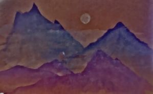 Water Colour Mountains by brodderick