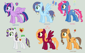 The New Mlp Team (new Mane 6) by MaryPonyArtist