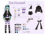 Zoe Roussell [Character Reference Sheet] by MadelineCG