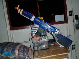 Nerf Mod-WIP Gallian-3R Rifle -Valkyria Chronicles by Scarlet-Impaler