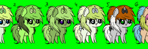 Scene Pony Adopts 2 by Rainbow-ninja-adopts