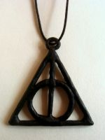 Deathly Hallows necklace by serajaa