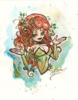 poison ivy-chibi sketch by DimRasha