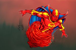 SM red tornado by ed-benes-studio by carol-colors