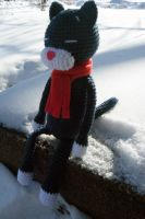 Winter Cat 1 by hellohappycrafts