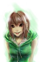 Girl in Green by Halcyon-Enigma