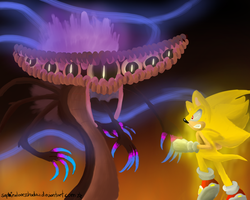 Perfect Dark Gaia VS Super Sonic by shadzter