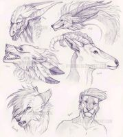 |The many creatures of my friends| by Rykhers