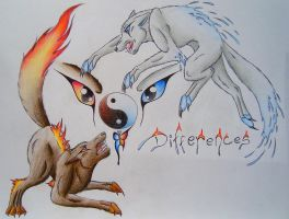 Differences - Shades of Fire and Water by LonlyAntelope