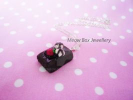 Chocolate Brownie Necklace by Meow-Box