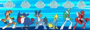 Pokemon Platinum Party by buizelmaniac