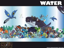 Oryu wall: Water type by shinyscyther