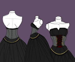 Black Wedding Dress by Mrs-Gaara