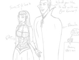 Elda and Dracula WIP by PyodeKantra