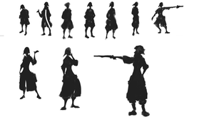 Character Silhouettes by LukeCalkins