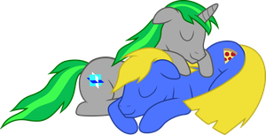 Cute ponies sleeping together by nsaiuvqart