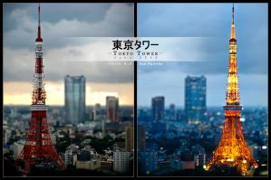 Twilight at Tokyo Tower by RazorICE