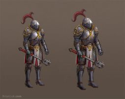Female, Male Armor by BrianLukArt