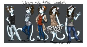 Days of the Week by ManueC