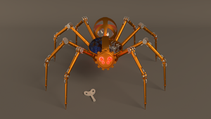 Mechanical Spider by Mokscha