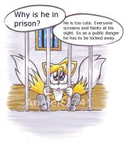 Tails is in prison by AngieR3741