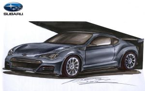 Subaru BRZ Coupe STi Version Concept by toyonda