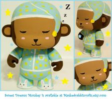 Sweet Dreams Monkey Toy by maskedrabbitcrafts