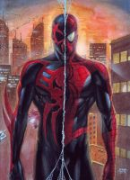 SpiderMan 2099 and SpiderMan Original by edtadeo