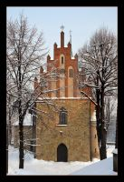 Frozen Church In Czchow - Poland by skarzynscy