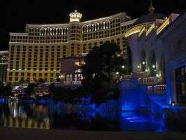 Bellagio fountain area by renonevada